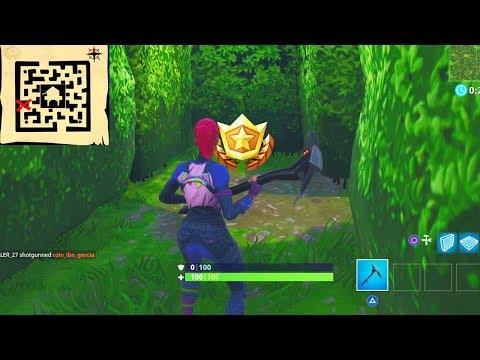 treasure map fortnite