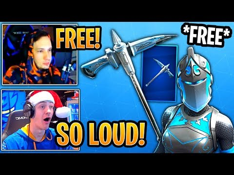 Streamers Get React To The Free New Frozen Axe Pickaxe